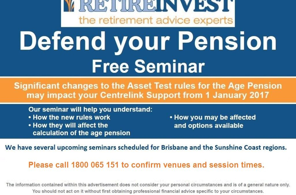 UPCOMING EVENT – Defend Your Pension Seminar